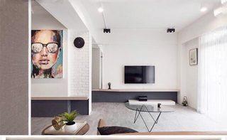 电视背景墙设计构造图