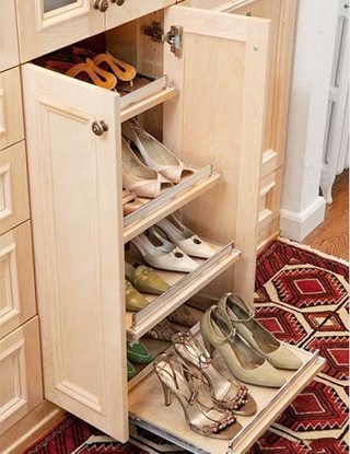 鞋柜摆放设计构造图片