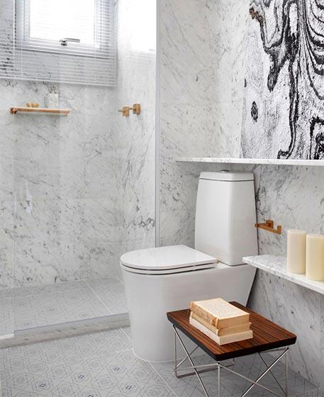 80㎡现代美式卫生间欣赏图