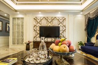 190平欧式风格四房电视背景墙设计