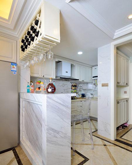 108平新古典风格二居吧台装修图