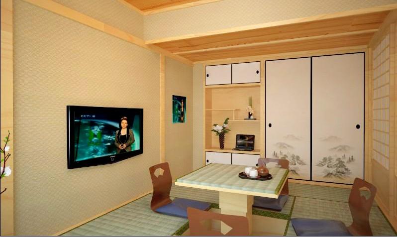 榻榻米客厅装修效果图 日式风格客厅装修案例
