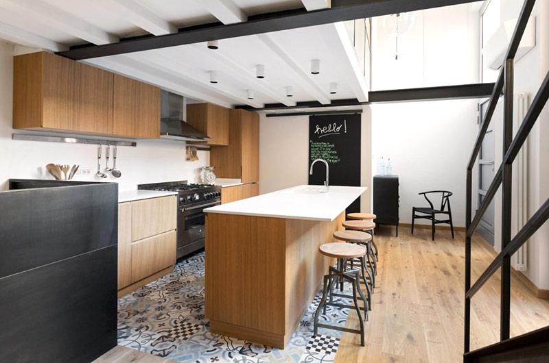 阁楼旧房改造装修厨房装修图