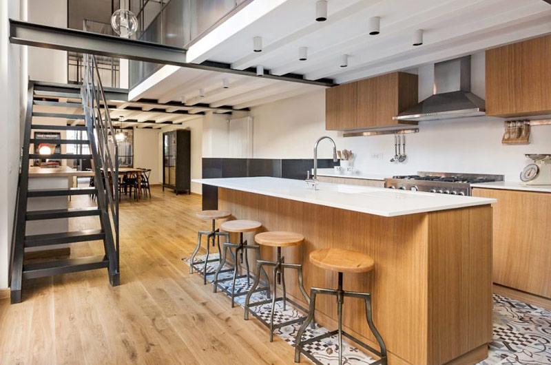 阁楼旧房改造装修开放式厨房装修