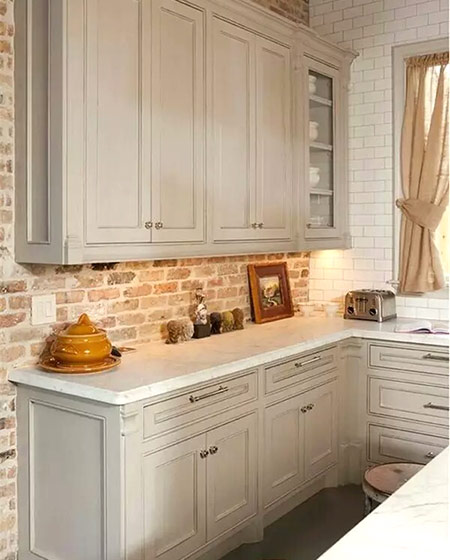 厨房砖墙背景墙设计效果图