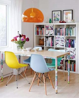 餐厅效果图混搭餐椅设计图