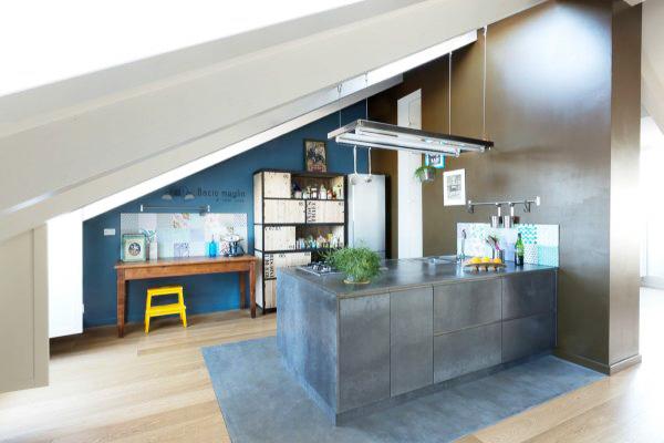 阁楼工业风厨房设计参考图