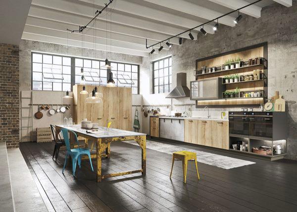 工业风厨房装修装饰效果图