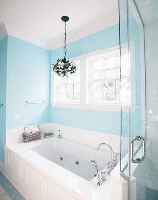 蓝色系浴室设计构造图