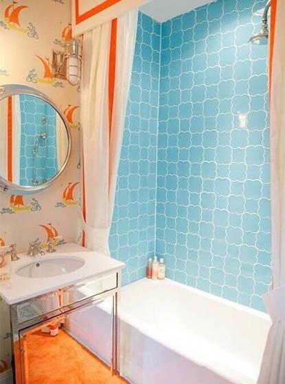 蓝色系浴室设计图片大全