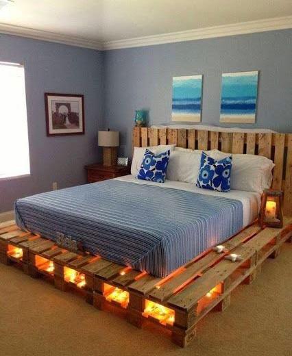 卧室木板床设计实景图