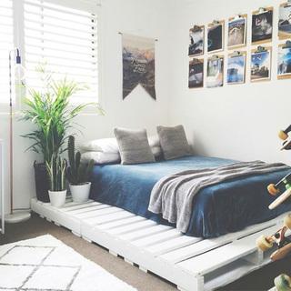 睡到飞起来  10个卧室木板床设计平面图2/10