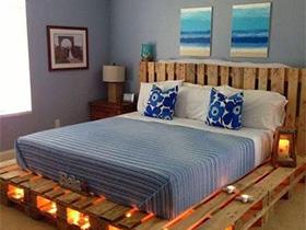 睡到飞起来  10个卧室木板床设计平面图