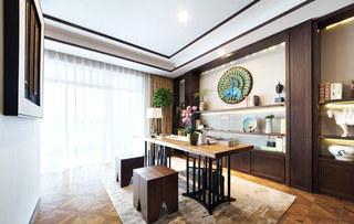 365平新东南亚风格书房装修图片