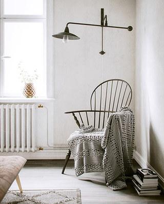 北欧风格单身公寓壁灯效果图