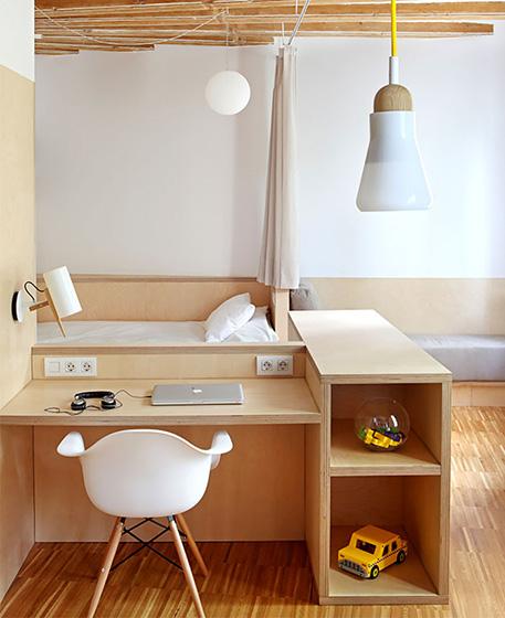 35平米小户型公寓书桌设计图
