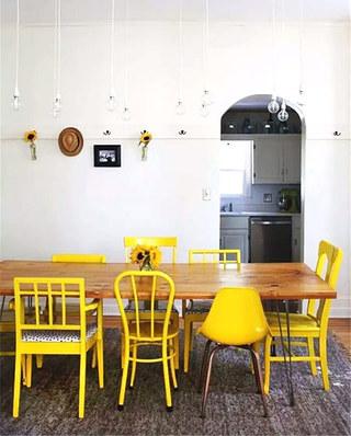 家庭餐厅混搭风格餐椅图片