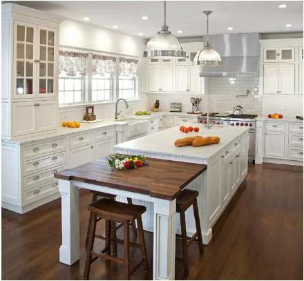 白色美式厨房装修装饰图片