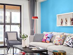 30万打造小户型色彩公寓  年轻要有活力