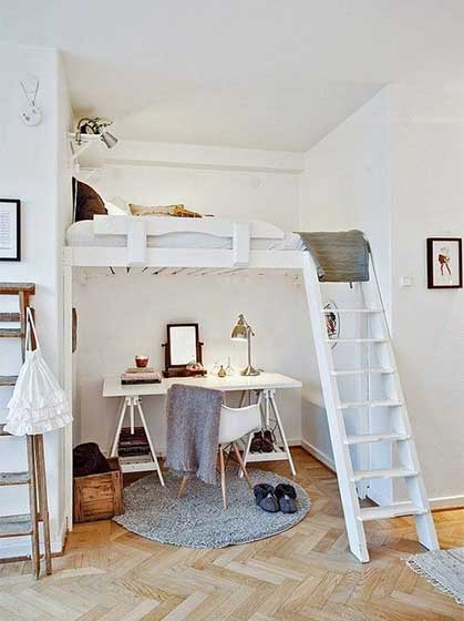 卧室高架床设计图