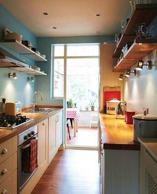 没有吊柜的厨房  10个收纳型厨房装修效果图2/10
