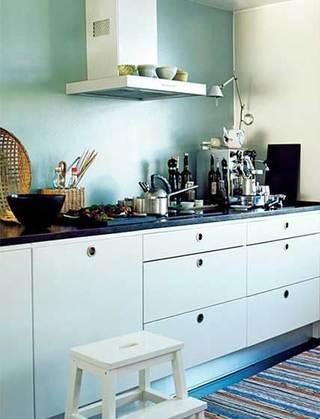 没有吊柜的厨房  10个收纳型厨房装修效果图3/10