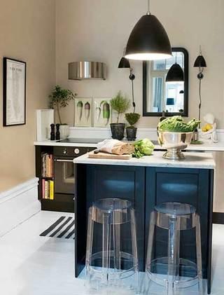 没有吊柜的厨房  10个收纳型厨房装修效果图4/10