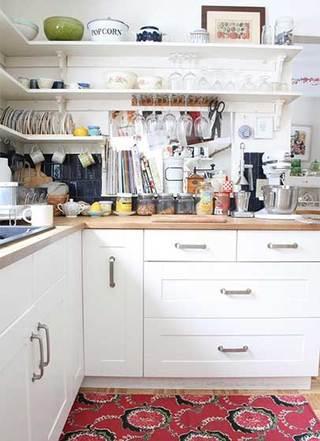 没有吊柜的厨房  10个收纳型厨房装修效果图10/10
