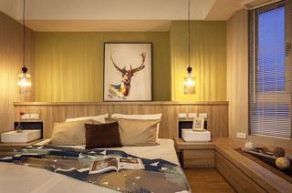 95平北欧风格二居卧室装修图片