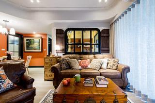 82平美式风格装修客厅设计图