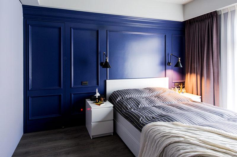 82平美式风格装修卧室设计装修