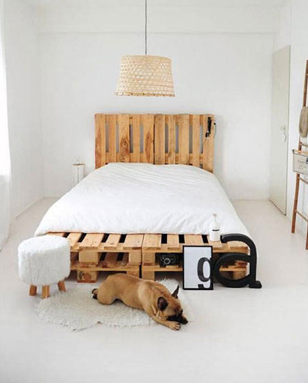 使用卧室木板床diy设计