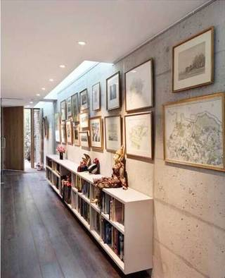 室内走廊背景墙欣赏图