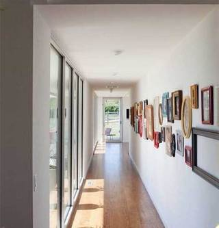 室内走廊照片墙构造图