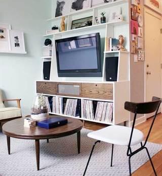 收纳型电视背景墙设计装修图