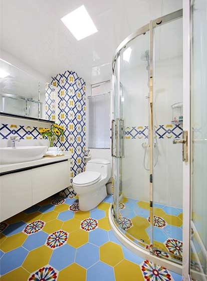 90平米装修卫生间实景图