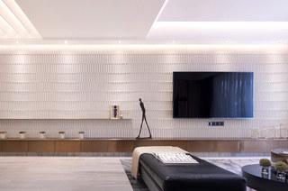 144平样板房装修电视背景墙设计