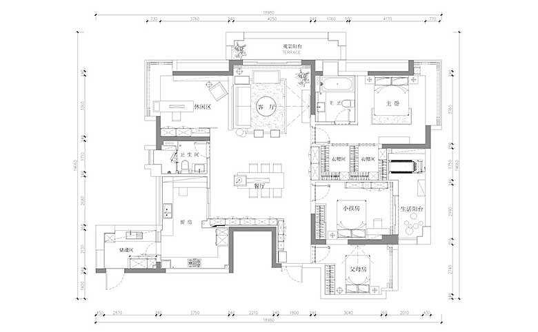 150平方设计平面图纸