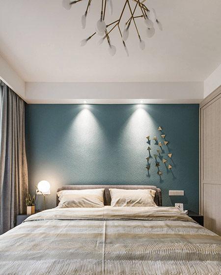 140平公寓装修卧室背景墙设计