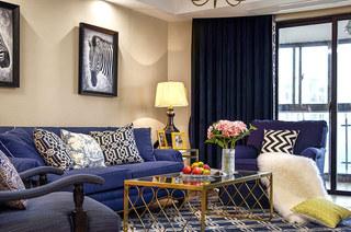 160平美式四房装修三人沙发设计