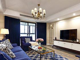 160平美式风格四房装修效果图 蔚蓝海洋
