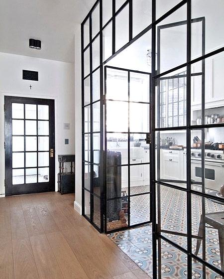 厨房玻璃门装修效果图