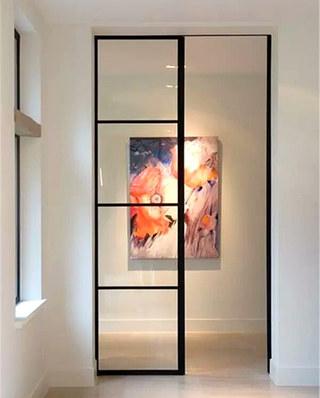 玻璃铁框门设计图片