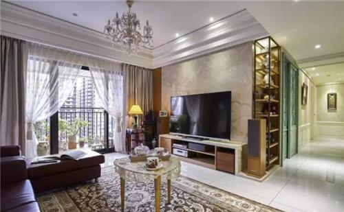 三室两厅装修效果图 90平中美混搭风装修案例