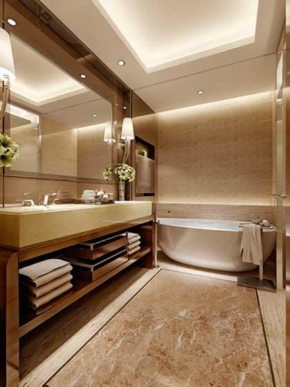 卫生间隐形灯带装修装饰效果图