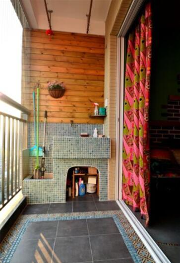 阳台洗手盆装修效果图 值得一看的阳台装修设计图片