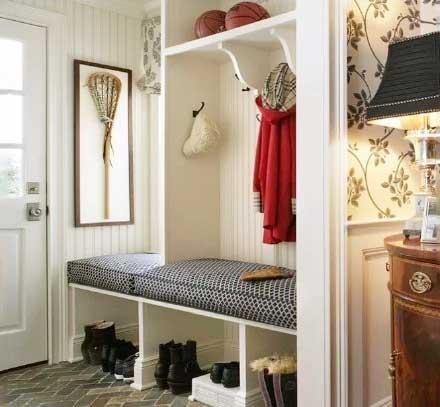 美式风格玄关柜装修装饰效果图