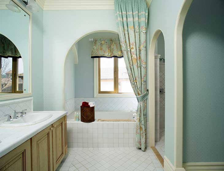 美式乡村小别墅卫生间布置图