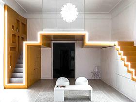 小户型一居室loft装修 用色彩打破单调氛围