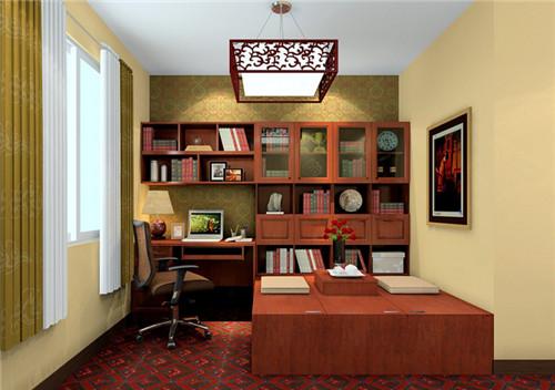 新中式书房装修效果图 雅韵十足的新中式书房设计图片